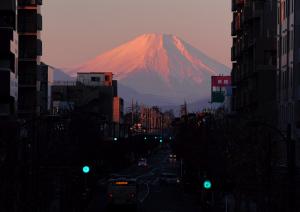 元日 朝焼けの富士