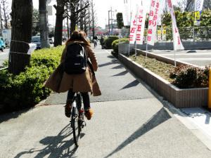 自転車出勤の途上で