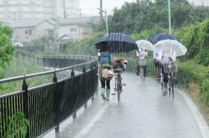 断続的な大雨