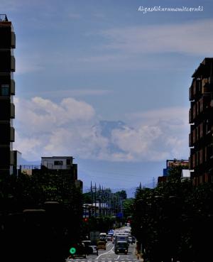 台風一過 富士の山