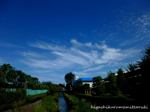 台風去って秋の空